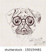 vintage illustration of hipster ... | Shutterstock .eps vector #150154481