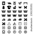 laundry icon | Shutterstock .eps vector #150155351
