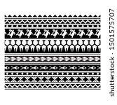 polynesian tattoo pattern... | Shutterstock .eps vector #1501575707