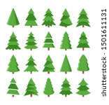 vector set of cartoon christmas ... | Shutterstock .eps vector #1501611131