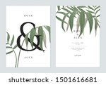 floral wedding invitation card... | Shutterstock .eps vector #1501616681