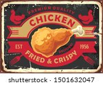 Fried And Crispy Chicken Meat...