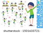 a set of boy related to alcohol.... | Shutterstock .eps vector #1501633721
