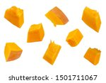 Pumpkin Slices Isolated On A...