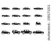 car icons set | Shutterstock .eps vector #150171311