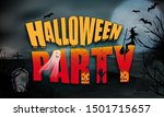 halloween background full moon... | Shutterstock .eps vector #1501715657