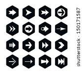 16 arrow sign icon set 02....