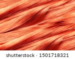 Curled Red Hair As Background ...
