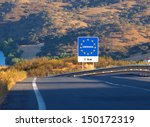 road sign on the border of a... | Shutterstock . vector #150172319