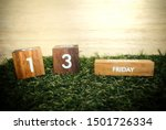 Stock photo friday th on wooden calendar bad luck misfortune day halloween concept 1501726334