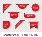 tags set. new tag red ribbon... | Shutterstock .eps vector #1501747607