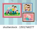 collection of photos of family... | Shutterstock .eps vector #1501768277