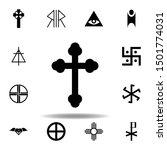 religion symbol  orthodox icon. ...