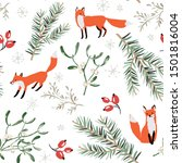 christmas seamless pattern ... | Shutterstock .eps vector #1501816004