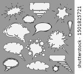 white contour handdrawn speech... | Shutterstock .eps vector #1501825721