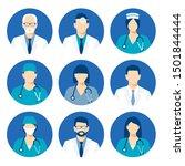 medical avatars set . medical...   Shutterstock .eps vector #1501844444