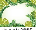 Coconut Leaves Frame