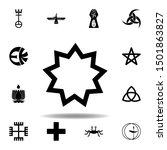 religion symbol  baha icon.... | Shutterstock . vector #1501863827