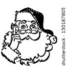 santa pointing up   retro clip... | Shutterstock .eps vector #150187805