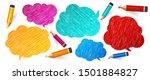 speech bubbles and pencils....   Shutterstock .eps vector #1501884827