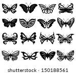 Set Of Sixteen Different Black...