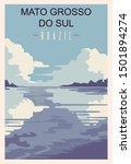 Rio Grande Do Sul Retro Poster...