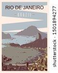 Rio De Janeiro Retro Poster ...