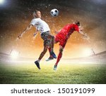 image of two football players... | Shutterstock . vector #150191099