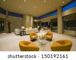 modern armchairs in spacious...   Shutterstock . vector #150192161