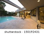 view of swimming pool and...   Shutterstock . vector #150192431