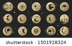 asian circle pattern set with... | Shutterstock .eps vector #1501928324