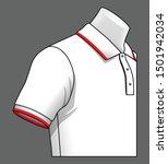 white polo shirt vector    red... | Shutterstock .eps vector #1501942034