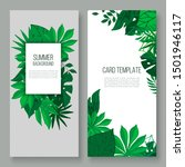 floral leaves vector... | Shutterstock .eps vector #1501946117