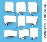 set of empty comic speech... | Shutterstock .eps vector #1501958687