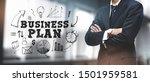 asian businessman on blurred... | Shutterstock . vector #1501959581