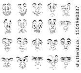 set of twenty amusing male...   Shutterstock . vector #1501960337