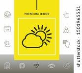 sun cloud line icon. graphic...   Shutterstock .eps vector #1501965551