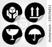 eps10 vector   black fragile... | Shutterstock .eps vector #150196811