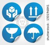 eps10 vector   blue fragile... | Shutterstock .eps vector #150196841