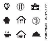 set of restaurant related icon... | Shutterstock .eps vector #1501976444