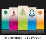 cool christmas banner set with...   Shutterstock .eps vector #150197804