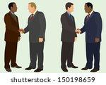 interracial handshake | Shutterstock .eps vector #150198659