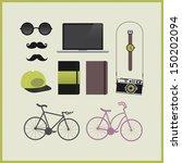 hipster set | Shutterstock . vector #150202094