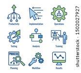 workflow efficiency icon set  ... | Shutterstock .eps vector #1502027927