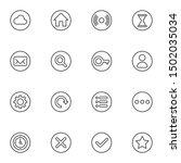 web ui line icons set. linear...