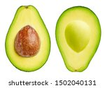 Avocado Collection Isolated On...