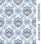 vintage seamless damask pattern.... | Shutterstock .eps vector #1502040431