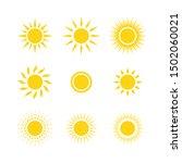 sun yellow logo vector on white ... | Shutterstock .eps vector #1502060021