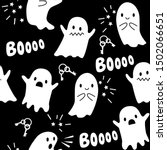 halloween seamless pattern with ... | Shutterstock .eps vector #1502066651