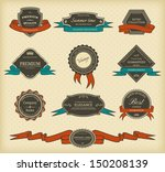set of vintage labels with... | Shutterstock . vector #150208139
